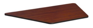 "36"" x 23"" x 19"" Standard Trapezoid Table Top - Cherry/ Maple"