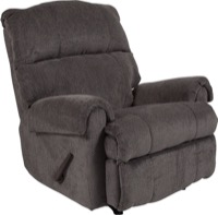 Contemporary Kelly Gray Super Soft Microfiber Rocker Recliner