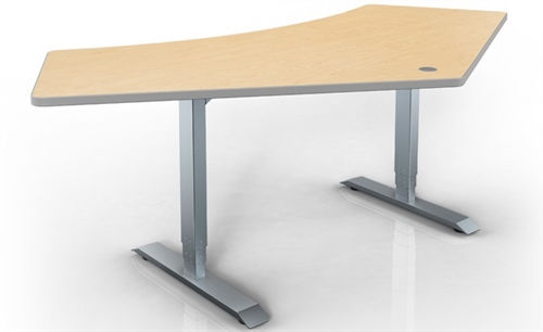 Hat Electric Height Adjustable Table 120 Degree Corner
