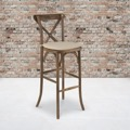 Wood Cross Back Barstools