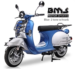 150cc Gas Scooter BMS Chelsea 2 Tone
