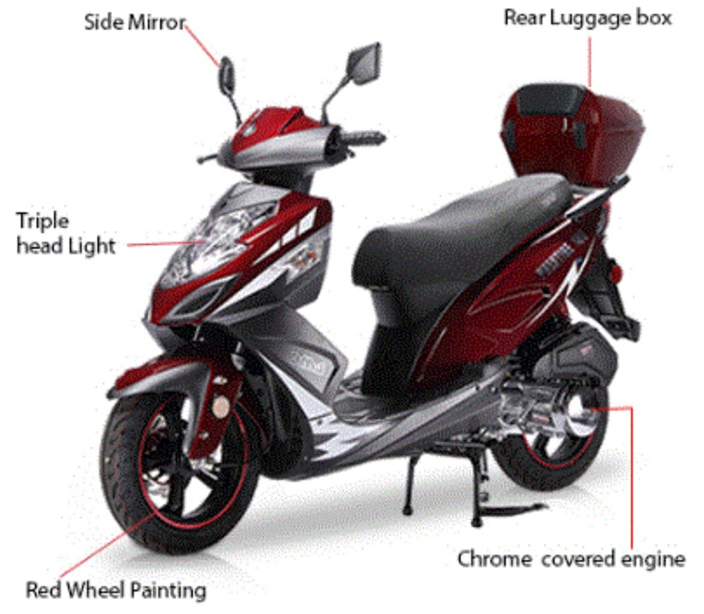BMS Prestige 150cc Scooter New Arrival, FREE Luggage Box