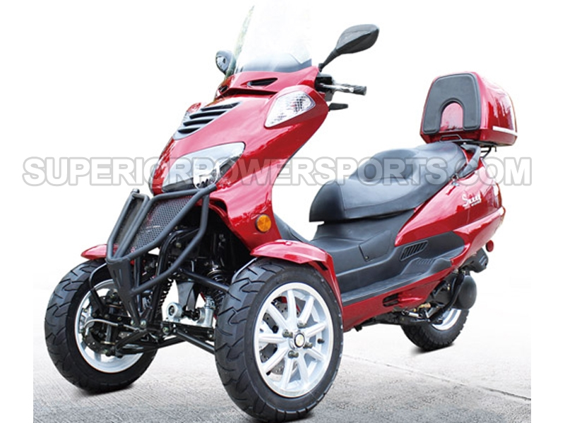 3 Wheel Scooter For Adults >> Df Moto 150cc Trike Scooter Type Tkb