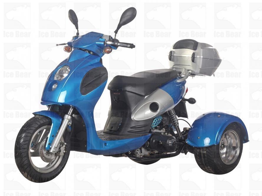 Ice Bear BULLSEYE 50cc Trike Scooter PST50-14