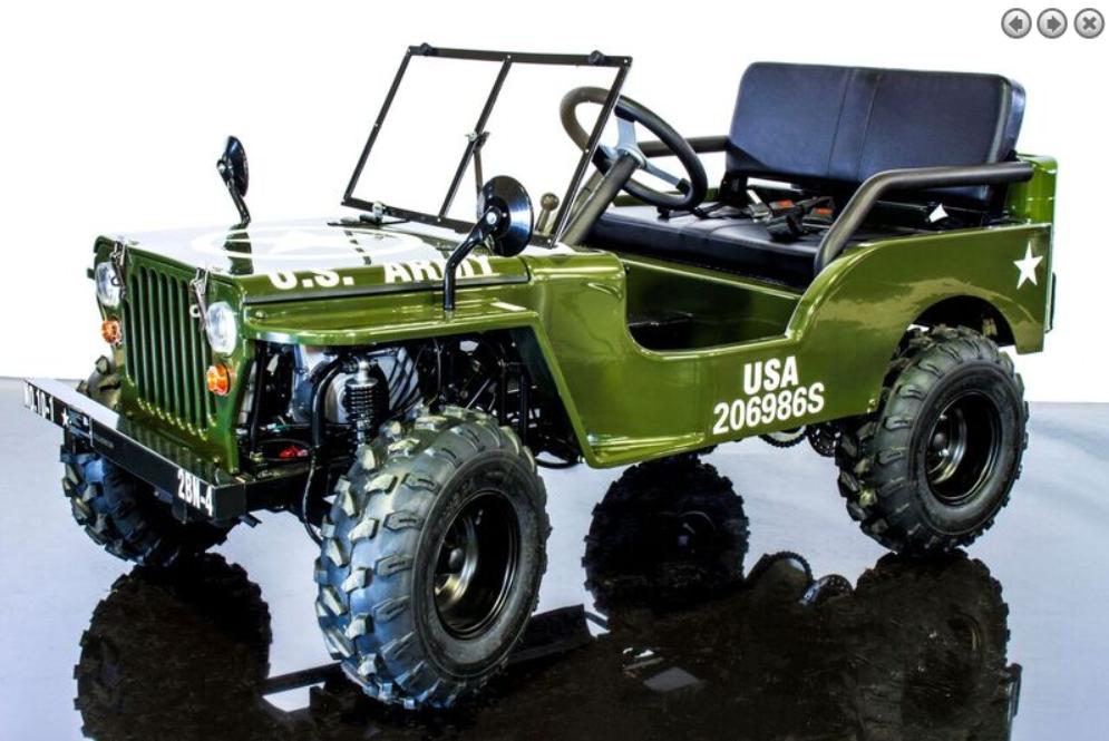 Rps Mini Jeep 125cc Go Kart 3 Speed With Reverse Steel Wheels