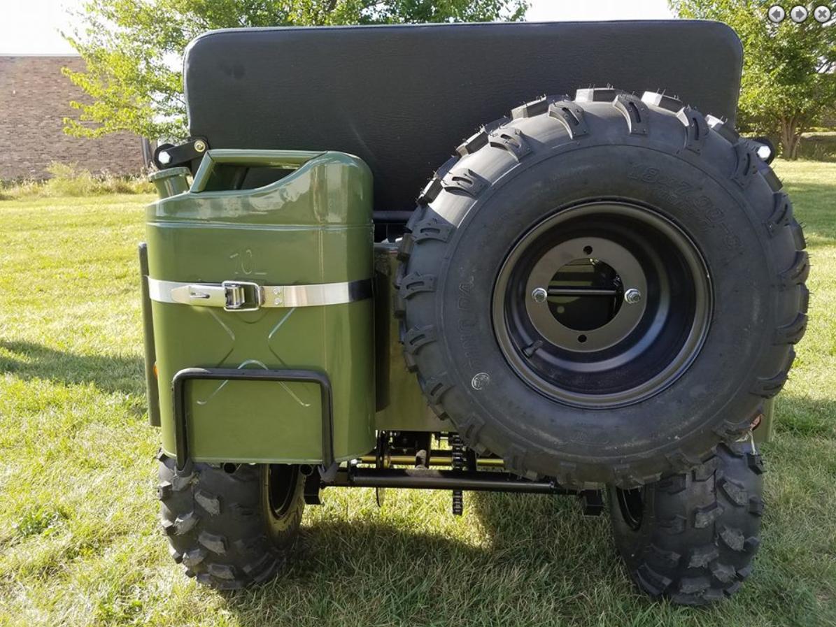 RPS Mini Jeep 125cc Go Kart, 3-speed with Reverse, Steel Wheels