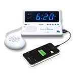 Sonic Boom Rise 'n Shine Clock with Bed Shaker & USB Charging