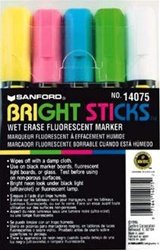 Bright Sticks Markers, 5-pack Asst