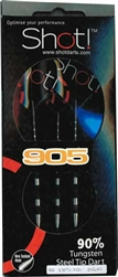 Shot! 905 90% Tungsten Steel-Tip Darts (3305)