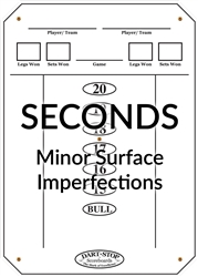Dart-Stop Scoreboard, White/ Dry-Erase, Seconds