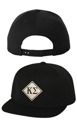 Greek Leather Patch Snapback Hat