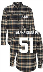 Alpha Delta Pi Long Sleeve Flannel Shirt