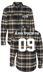Alpha Epsilon Phi Long Sleeve Flannel Shirt