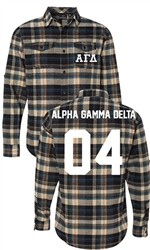 Alpha Gamma Delta Long Sleeve Flannel Shirt