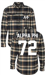 Alpha Phi Long Sleeve Flannel Shirt