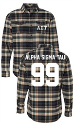 Alpha Sigma Tau Long Sleeve Flannel Shirt