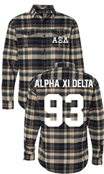 Alpha Xi Delta Long Sleeve Flannel Shirt