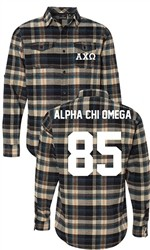 Alpha Chi Omega Long Sleeve Flannel Shirt
