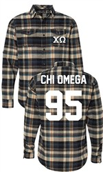 Chi Omega Long Sleeve Flannel Shirt