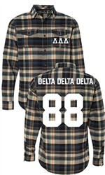Delta Delta Delta Long Sleeve Flannel Shirt