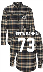 Delta Gamma Long Sleeve Flannel Shirt