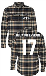 Delta Phi Epsilon Long Sleeve Flannel Shirt