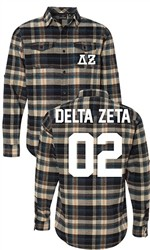Delta Zeta Long Sleeve Flannel Shirt
