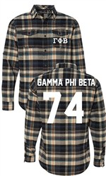 Gamma Phi Beta Long Sleeve Flannel Shirt