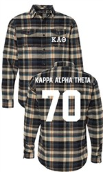 Kappa Alpha Theta Long Sleeve Flannel Shirt