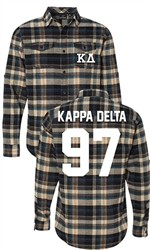Kappa Delta Long Sleeve Flannel Shirt