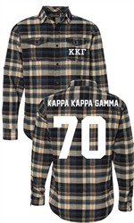 Kappa Kappa Gamma Long Sleeve Flannel Shirt