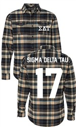 Sigma Delta Tau Long Sleeve Flannel Shirt