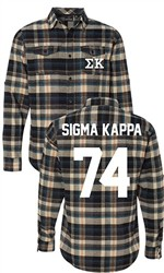 Sigma Kappa Long Sleeve Flannel Shirt