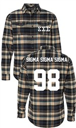 Sigma Sigma Sigma Long Sleeve Flannel Shirt