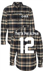 Theta Phi Alpha Long Sleeve Flannel Shirt