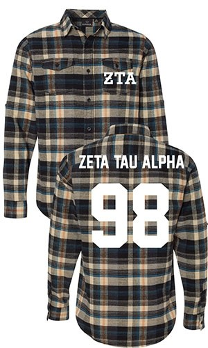 Zeta Tau Alpha Long Sleeve Flannel Shirt
