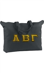Greek Life Threads Signature Sorority Tote Bag w/ Zippered Pocket