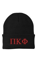 Port & Co Greek Beanie Knit Hat