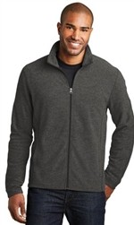 Port Authority Heather Microfleece Full-Zip Jacket-Fast Shipping