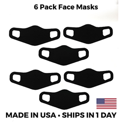 Lightweight Stretch Face Masks - 6 pack