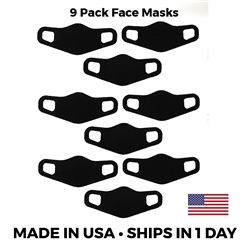Lightweight Stretch Face Masks - 9 pack