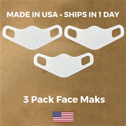 Lightweight Stretch Face Masks - 3 pack