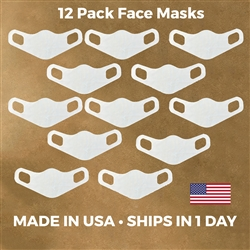 Lightweight Stretch Face Masks - 12 pack