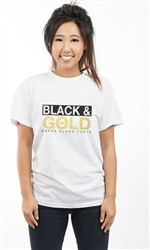 KAPPA ALPHA THETA BLACK AND GOLD UNISEX TEE