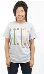 PI BETA PHI VERTICAL ARROWS UNISEX TEE