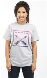 PI BETA PHI BOX ARROWS UNISEX TEE