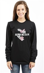 ALPHA DELTA PI FLOWERS LONG SLEEVE TEE