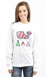 DELTA DELTA DELTA WHALE LONG SLEEVE TEE
