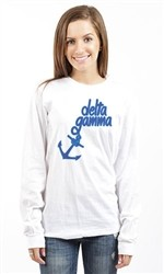 DELTA GAMMA ANCHORED DOWN LONG SLEEVE TEE