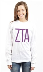 ZETA TAU ALPHA ZTA LONG SLEEVE TEE
